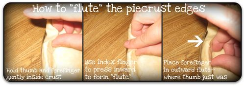 Apple pie how to flute the crust
