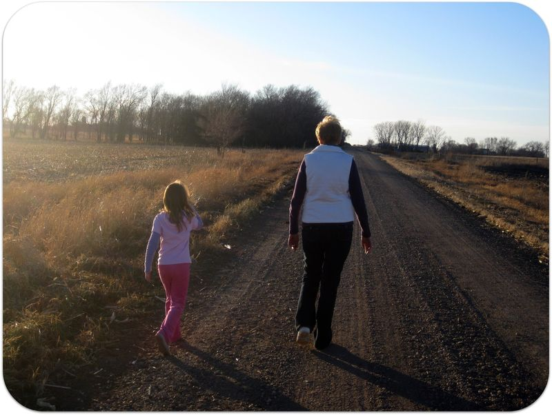 Thanksgiving afternoon family walk