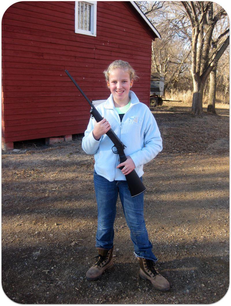 Thanksgiving a girl and her new gun