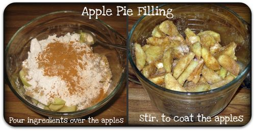 Apple pie make a delicious filling