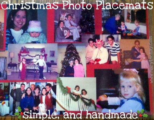 Christmas photo placemats