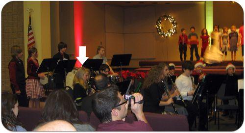 Christmas band concert clarinet girl