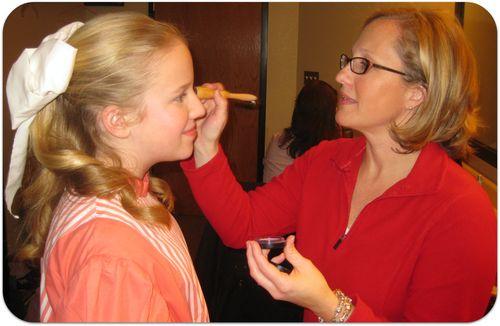 Hello Dolly makeup backstage blush
