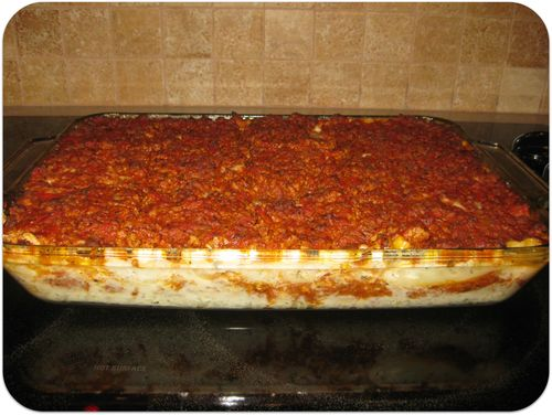 Birthday dinner lasagna