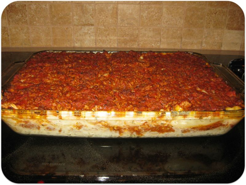 Birthday dinner lasagna