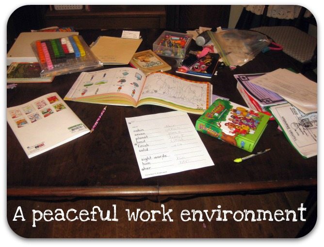 A mother's work is never done desk