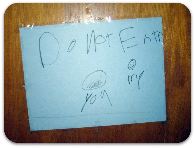 Messy Kids Rooms Do Not Enter Sign