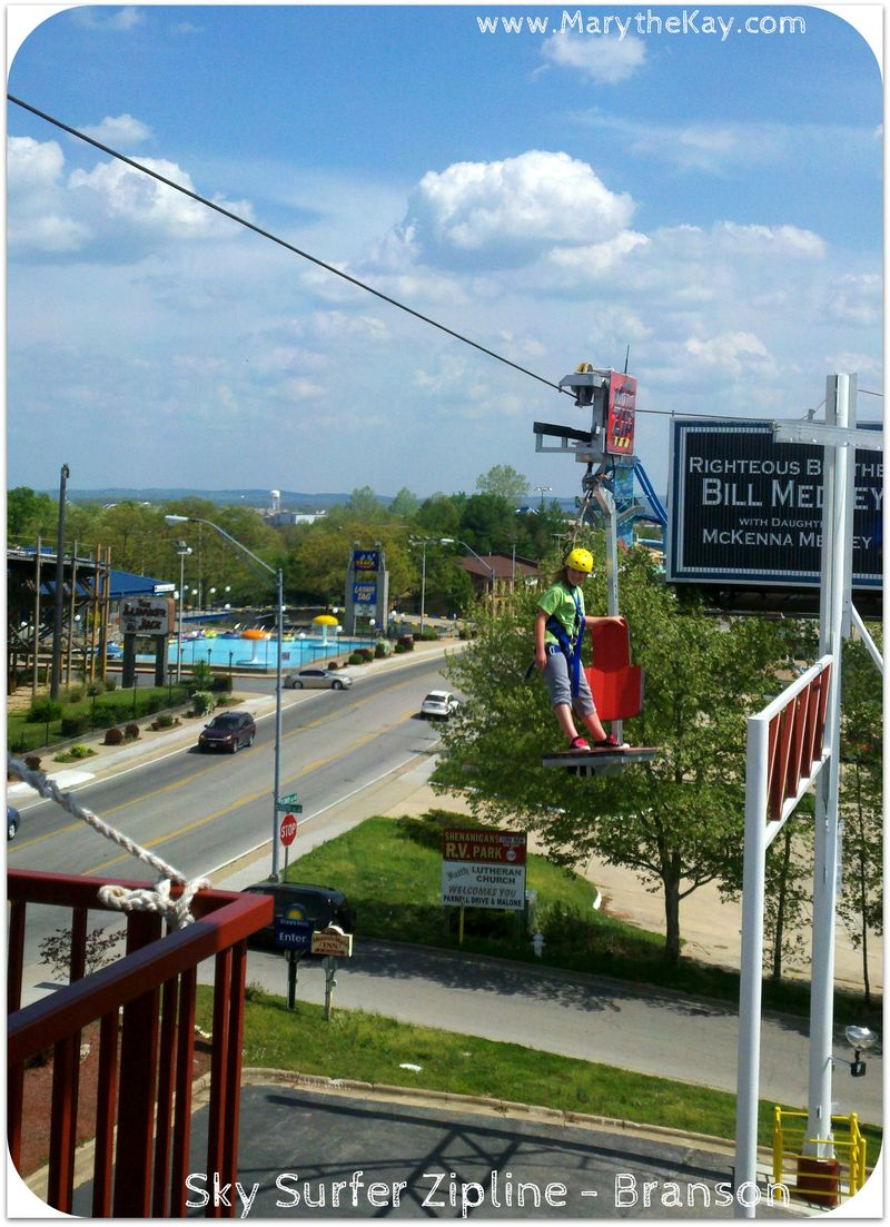 Zipline Sky Coaster Branson becca