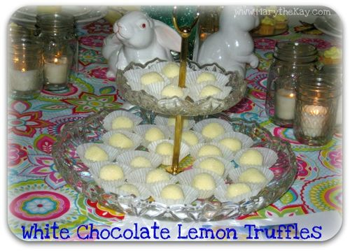 Spring table ideas white chocolate lemon truffles2