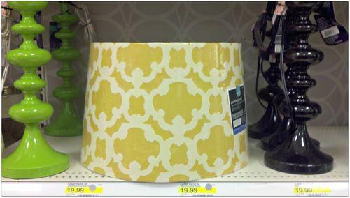 Gold lampshade at target