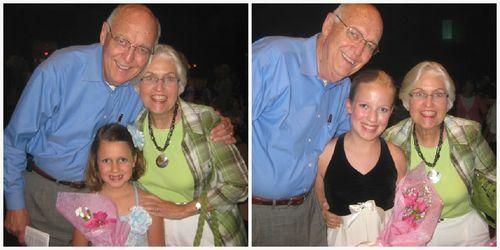 Nana and Pops dance recital