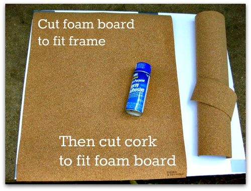 Cut foam board to fit frame