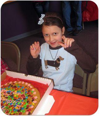 Saras birthday party cookie