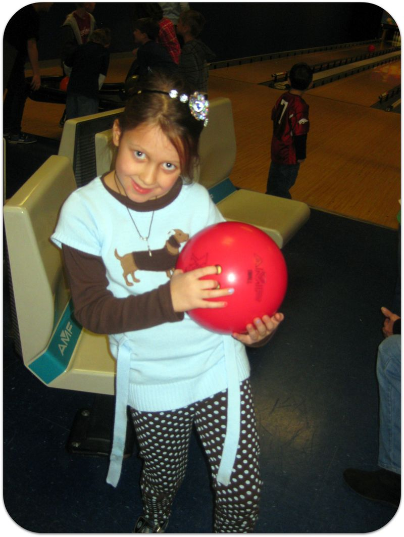 Saras birthday bowling ball