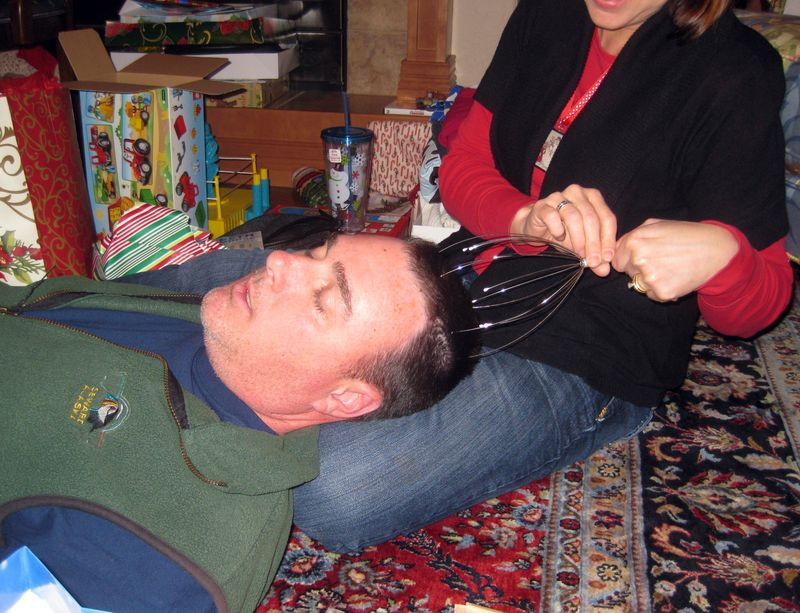 Oddest christmas gifts scalp massager
