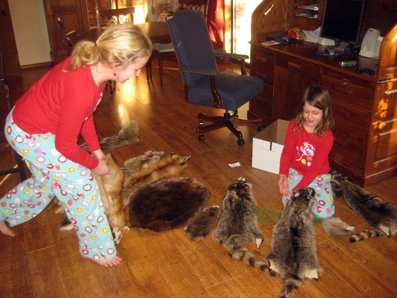 Oddest Christmas gifts animal pelts