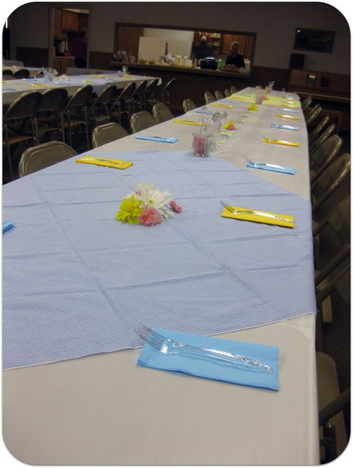 70th birthday party tables