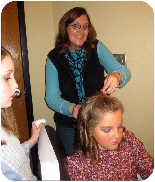 Hello Dolly hair backstage