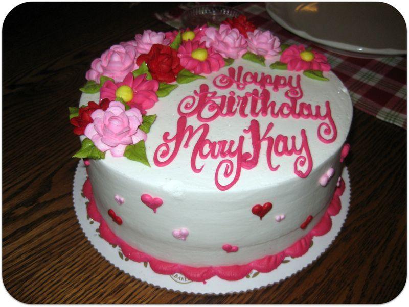 Birthday dinner cake from ricks bakery