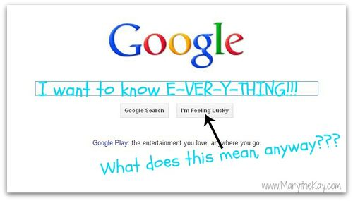 Google logo spoof for blog