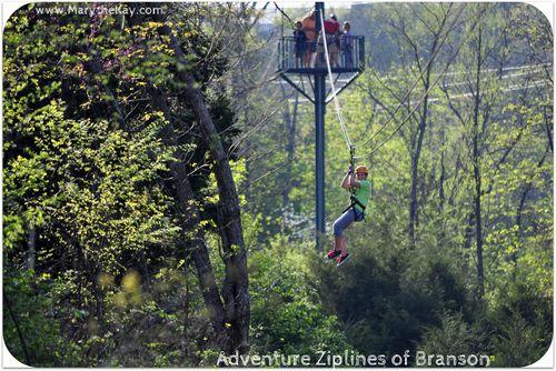 Zipline becca Adventure Zipline Branson