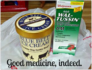 Robitussin and Bluebell ice cream medicine