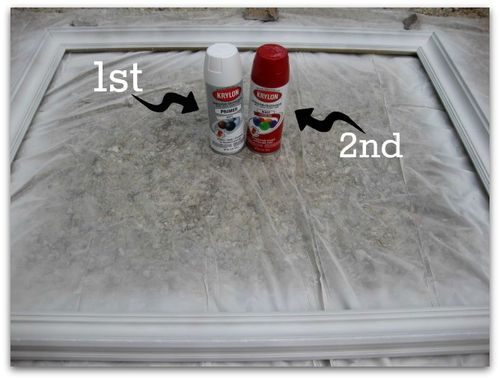Spray paint the picture frame