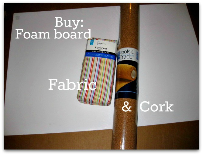 Buy fabric and cork for the project2