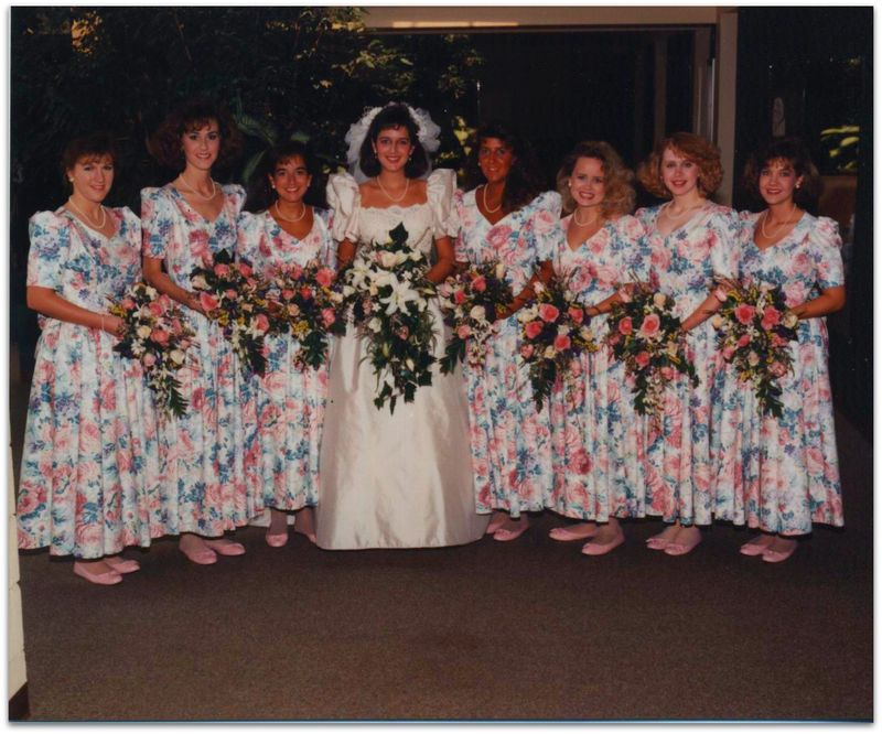 Wedding photo bridesmaids
