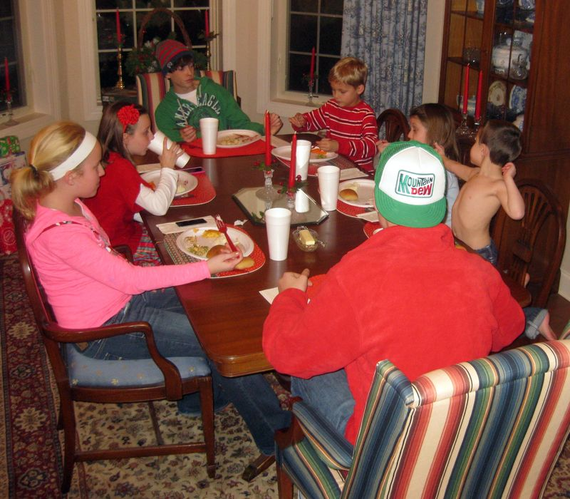 Christmas grandkids table