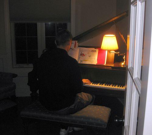 Christmas vacation piano playing