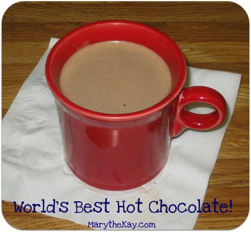 Worlds best hot chocolate button
