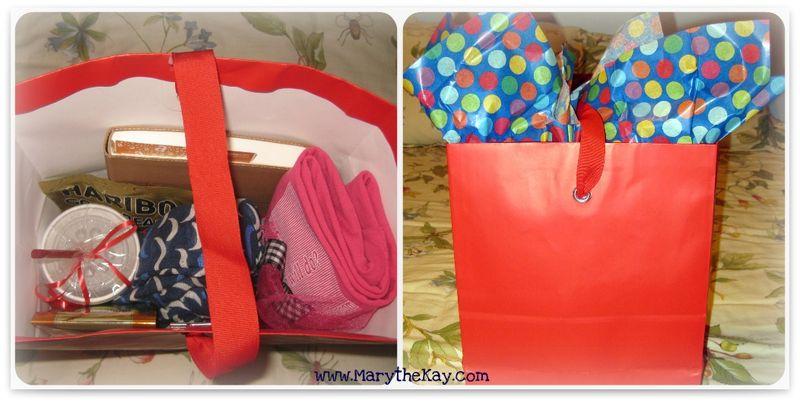 Favorite Things Giveaway gift bag of goodies