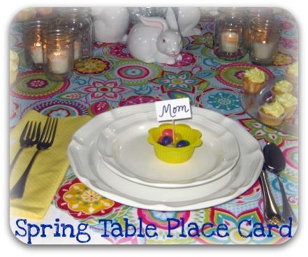 Spring table place card idea