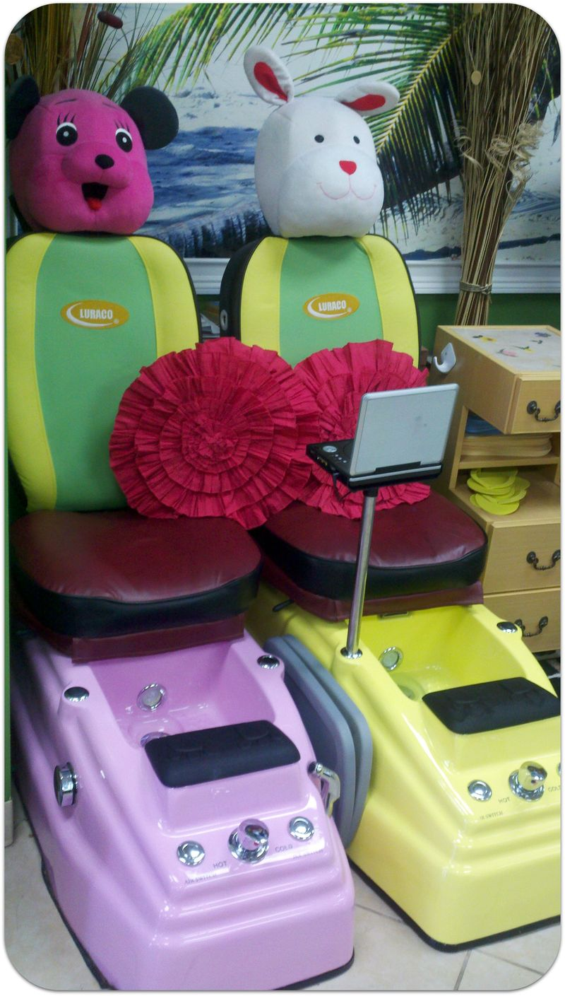 Moms 70th birthday child pedicure chairs