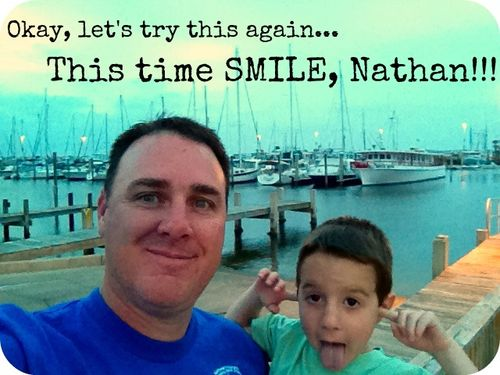 Nathan not smiling again
