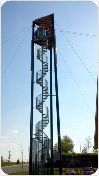 Zipline stairs Adventure Ziplines Branson