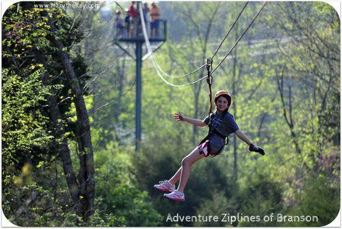 Zipline leah Adventure Ziplines Branson