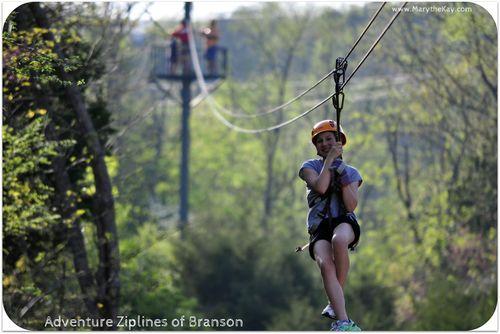Zipline mads Adventure Zipline Branson