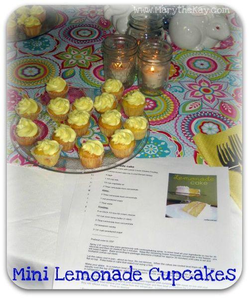 Spring table mini lemonade cupcakes2