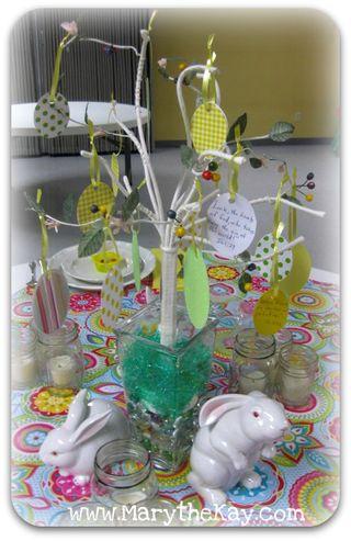 Spring table easy easter egg tree ideas