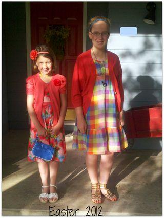 Easter morning girls 2012