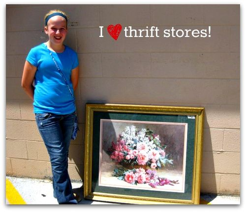 Thrift store picture frame purchase