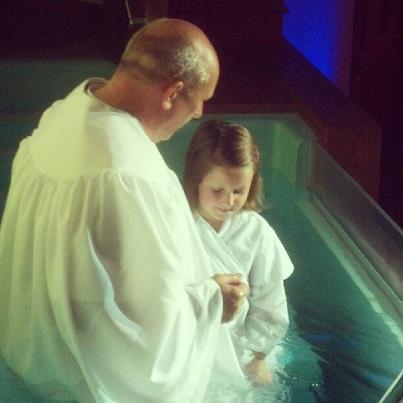 Sara Beth's baptism