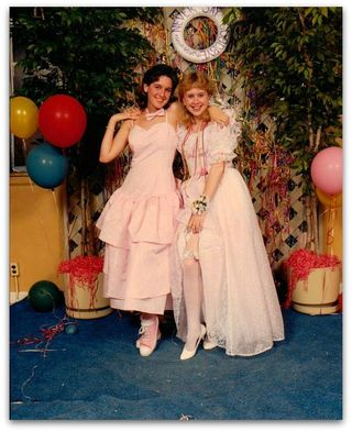 Mk and Stacey 80s prom