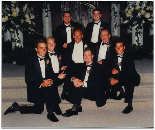 Wedding photo groomsmen