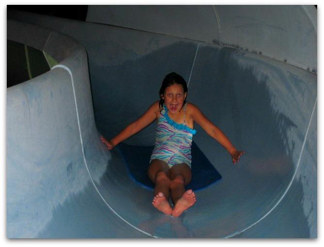 Summer camp water slide