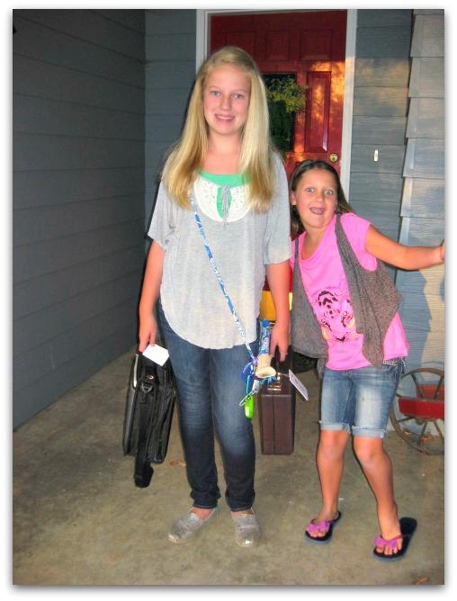 Girls' first day of school 2012