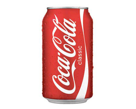Cold can of Coca Cola