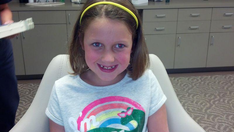 Sara before braces